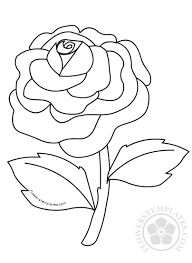 A matryoshka, cube, and ball. Rose Flower Coloring Pages Kids Flowers Templates
