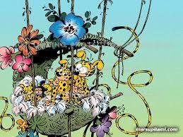 marsupilami lovely comics flowers spirou