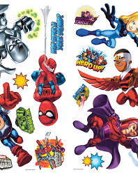 marvel super hero squad wall stickers themerooms custom wallpapers