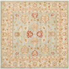 antiquity grey blue beige 6 ft x 6 ft square area rug