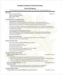 Grad School Resume Tips Sample Graduate School Resume 9 Examples In Pdf Word