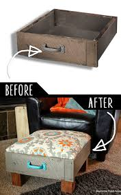 diy furniture ideas. Fine Furniture DIY Furniture Hacks  Foot Rest From Old Drawers Cool Ideas For Creative  Do It With Diy
