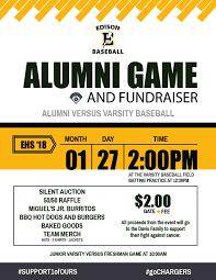 Alumni Game Flyer V2 Edison High School Baseball