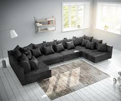 Couch Clovis Xl Anthrazit Antik Optik Wohnlandschaft Modulsofa