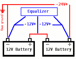 dave's bus conversion 12v on 24v converters 24v to 12v conversion 24 Volt Battery Wiring Diagram essentially it holds the middle wire at half the voltage of the outer wires if one of the batteries has a higher charge, current will pass through the 24 volt battery wiring diagram for 4 6 volt