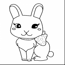 Cute Bunny Coloring Pages At Getdrawingscom Free For Personal Use