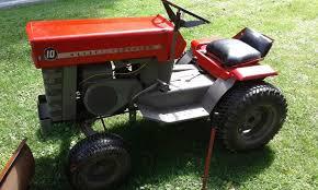1966 massey ferguson 10 mf10 garden tractor w snow plow masseyferguson