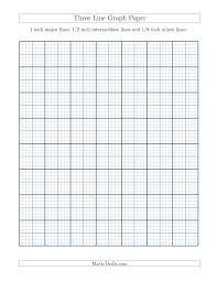The Three Line Graph Paper With 1 Inch Major Lines 1 2 Inch