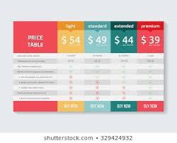 Table Chart Design Comparison Chart Design Images Stock Photos Vectors