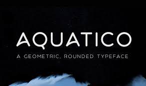 Free Font Aquatico Freetypography