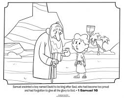 You were very dear to me. Kids Coloring Page From What S In The Bible Featuring Samuel Anointing David From 1 Samuel 16 Volume 5 Israel Gets A King