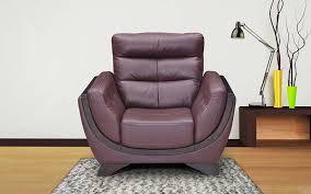 royaloak atlanta single seater genuine leather sofa