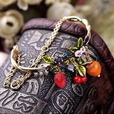 new york mixed charm whole costume jewelry 2016 female fruit pendants best friend bracelet in charm bracelets from jewelry accessories on
