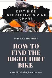 Dirt Bike Height Chart Dirt Bike Sizing Chart Interactive Guide 2019 Bike
