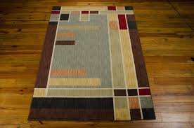 5x8 5393 x 7395 contemporary mission style arts crafts craftsman style area rugs for