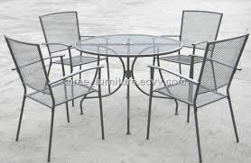 steel mesh patio dining