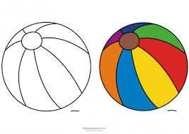 Small Picture Match Up Coloring Pages Beach Ball KidsPressMagazinecom