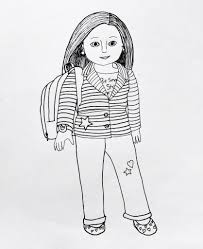 Smart Inspiration American Girl Coloring Page Pages Wurzen Printable