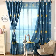 Exceptional Cartoon Blue Planet Star Curtains For Kids Room Lovely Printed Curtains For Boys  Bedroom Baby Room