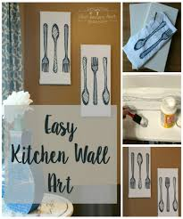 Easy Kitchen Easy Kitchen Wall Art From Hand Towels What Treasures Await