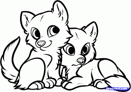 Dragoart Coloring Pages How To Draw Wolf Puppies Wolf Cubs Step 8