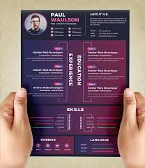 Creative Resume Template Psd Graphiceat