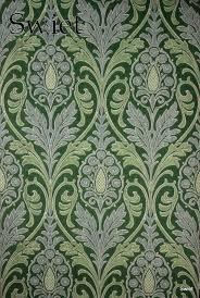 Groenblauw Barok Behang Swiet Wallpaper Groen Blauw E Barok
