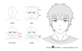 Face Perspective Chart 12 Anime Male Facial Expressions Chart Tutorial Animeoutline