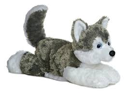 amazon aurora world flopsie plush siberian husky dog shadow 12 toys games