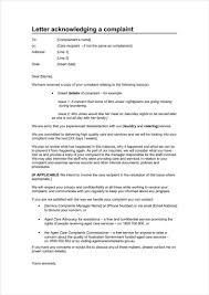 Complaint Email Template 24 Complaint Acknowledgement Letters Free Premium Templates 14