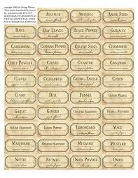 29 best Spice Jar Labels and Templates images on Pinterest ...