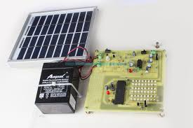 Solar Highway Lighting System With Auto Turn Off In Daytime Solar Home Lighting System Project