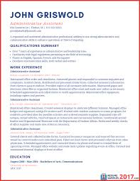 Unique Administrative Assistant Resume Examples 2017 Personal Leave