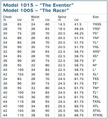 High Quality Jockey Vest Size Chart 2019