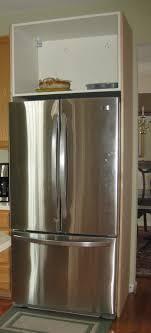 Kitchen Cabinets Refrigerator Remodelando La Casa Building The Refrigerator Enclosure