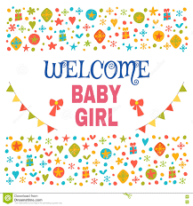 Welcoming Baby Girl Welcome Baby Girl Baby Girl Shower Card Baby Girl Arrival Post
