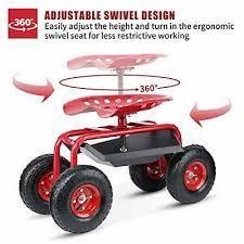 wheels rolling garden stool 4 wheel