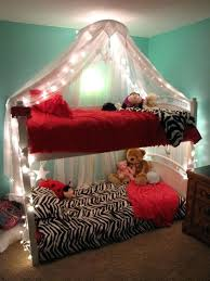 Bunk Bed Canopies Girls Lighted Bed Canopy Awesome Bunk Bed Canopy ...
