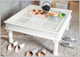 charming white glass top coffee table shabby chic white glass coffee table for