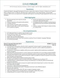 Resume Examples Speech Language Pathology 40 Therapy Mmventuresco Amazing Speech Language Pathology Resume