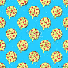 repeating pizza background. Perfect Background Hand Drawn Tasty Pizza Circles Vector Seamless Pattern Modern Stylish  Repeating Fast Food Service Elements In Repeating Pizza Background Fotoliacom