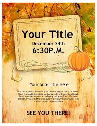 Free Thanksgiving Templates For Word Fall Potluck Flyer Template Free Printable Thanksgiving