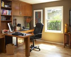 cool home office simple. Brown And White Themed Cool Home Office Design With Simple Wood L Shaped Desk On