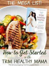 The Mega List Of Getting Started With Trim Healthy Mama