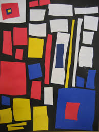 piet mondrian collage