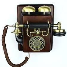 retro wall mount phone vintage corded telephone kitchen wood effect handset ericsson vintage wall phones wall