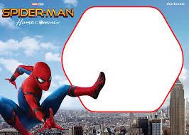 Spiderman Template Free Spiderman Homecoming Invitation Template Spiderman