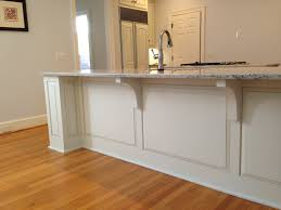 Kitchen Wainscoting Finished Pilasters Lowered Countertop Bar Wainscoting Our