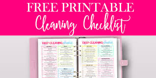 Free Printable House Cleaning Checklist By Paper Del Sol