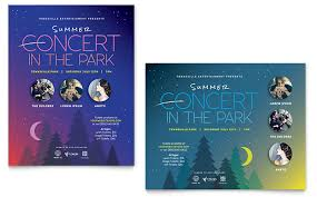 Concert Flyer Template For Word Summer Concert Poster Template Word Publisher